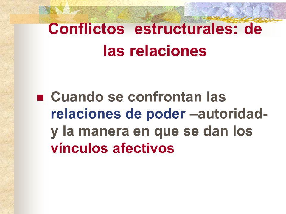 Conflictos estructurales: de las relaciones