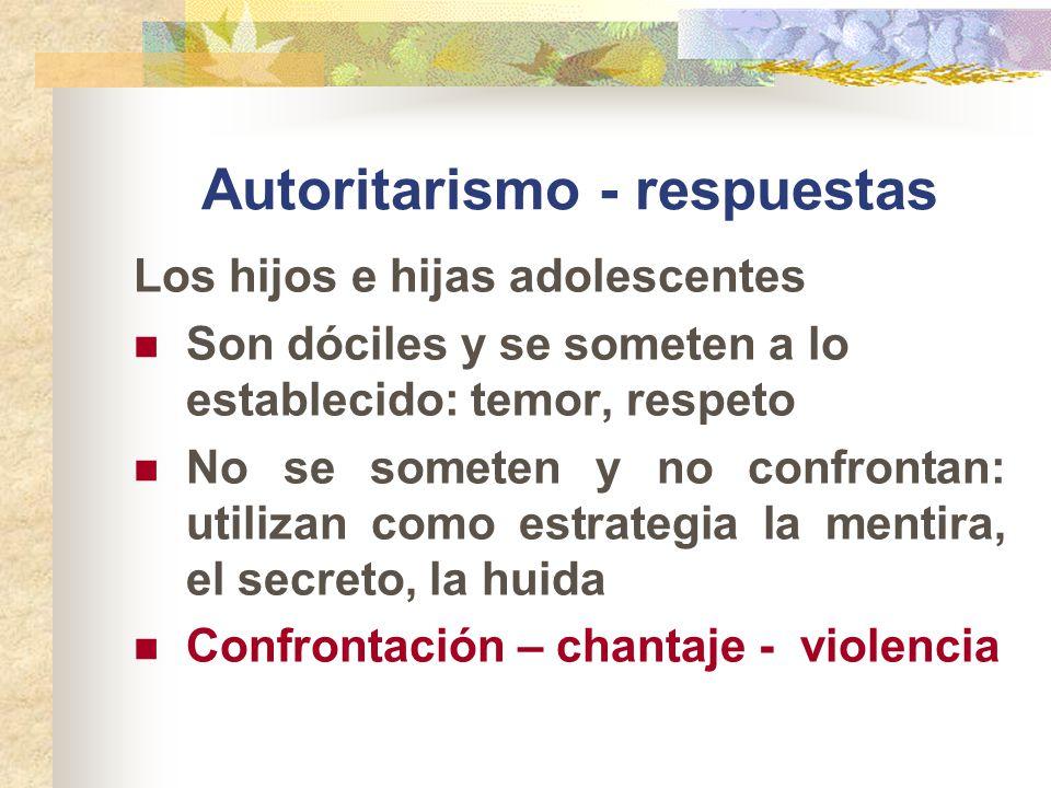 Autoritarismo - respuestas