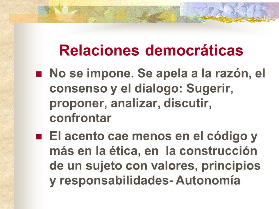 Relaciones democráticas