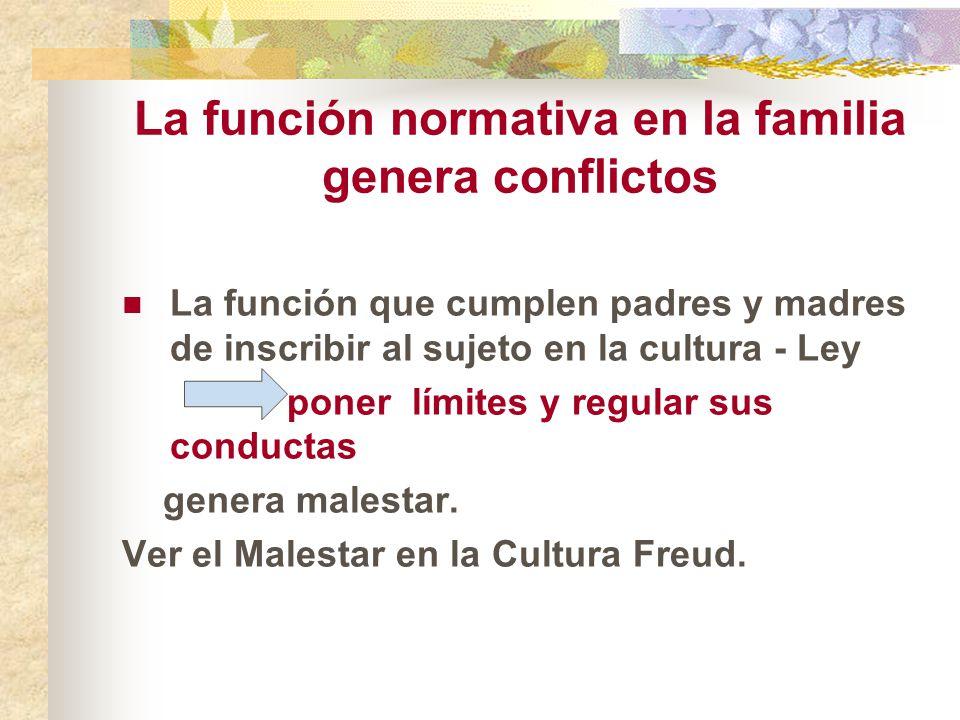 La función normativa en la familia genera conflictos