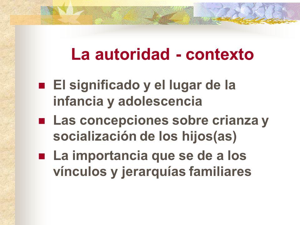 La autoridad - contexto