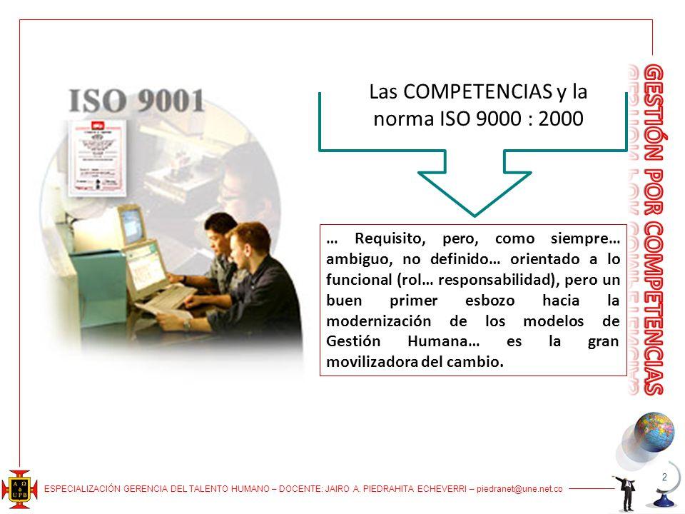 Las COMPETENCIAS y la norma ISO 9000 : 2000