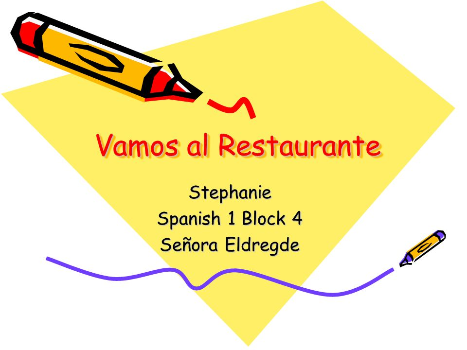 Stephanie Spanish 1 Block 4 Señora Eldregde