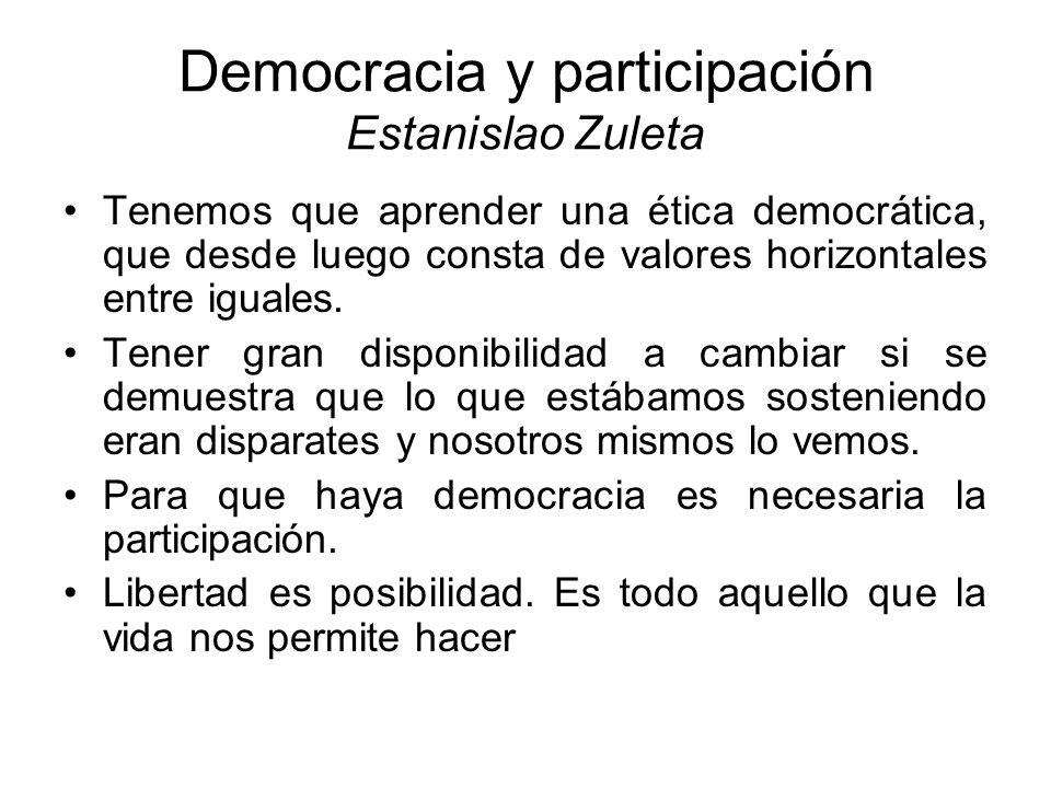 Democracia y participación Estanislao Zuleta