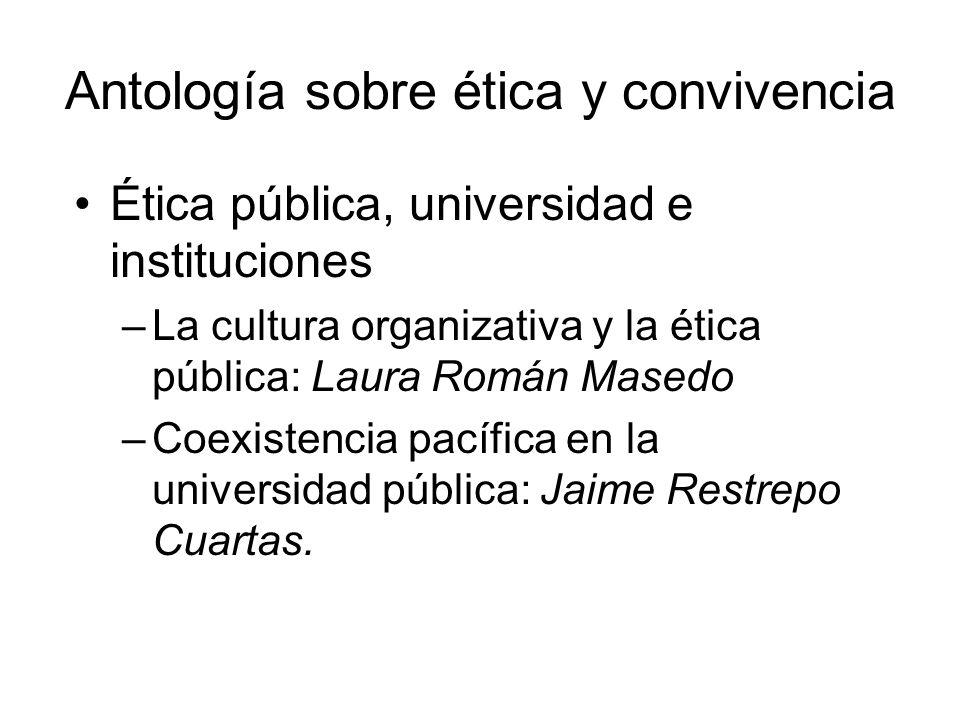 Antología sobre ética y convivencia