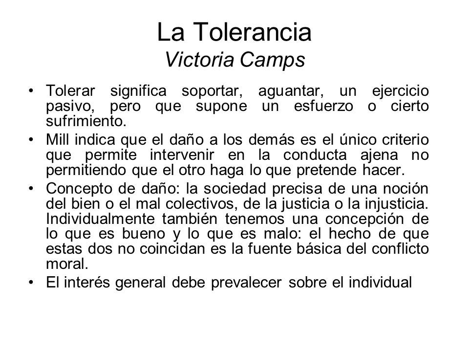 La Tolerancia Victoria Camps
