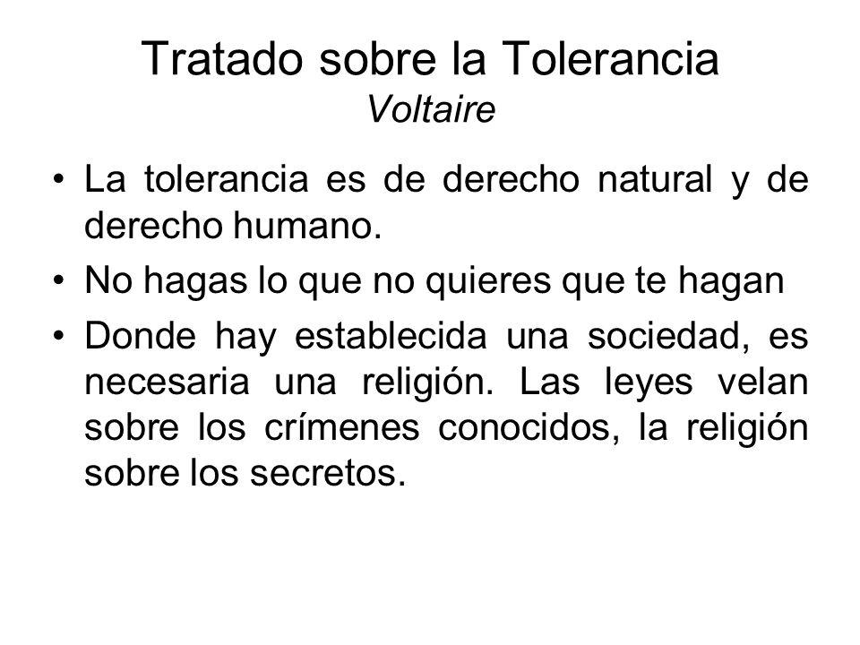 Tratado sobre la Tolerancia Voltaire