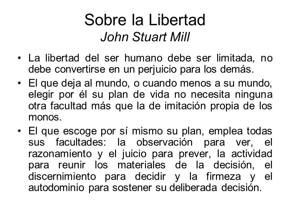 Sobre la Libertad John Stuart Mill