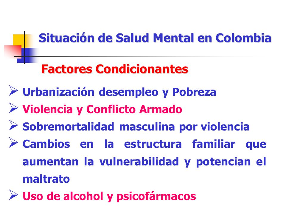 Situación de Salud Mental en Colombia