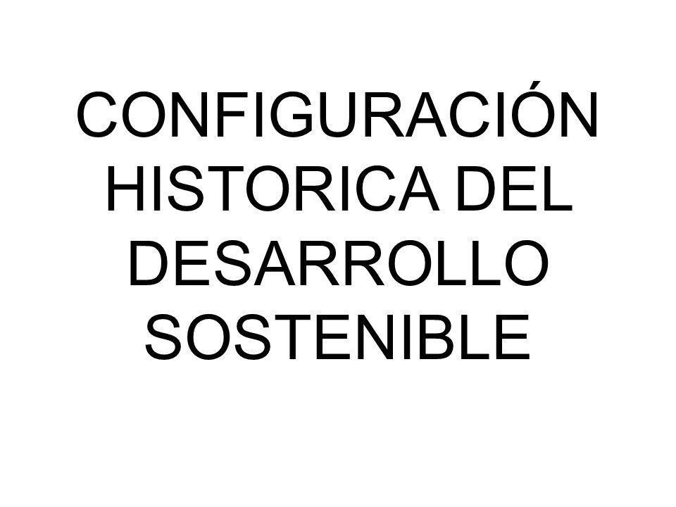 CONFIGURACIÓN HISTORICA DEL DESARROLLO SOSTENIBLE