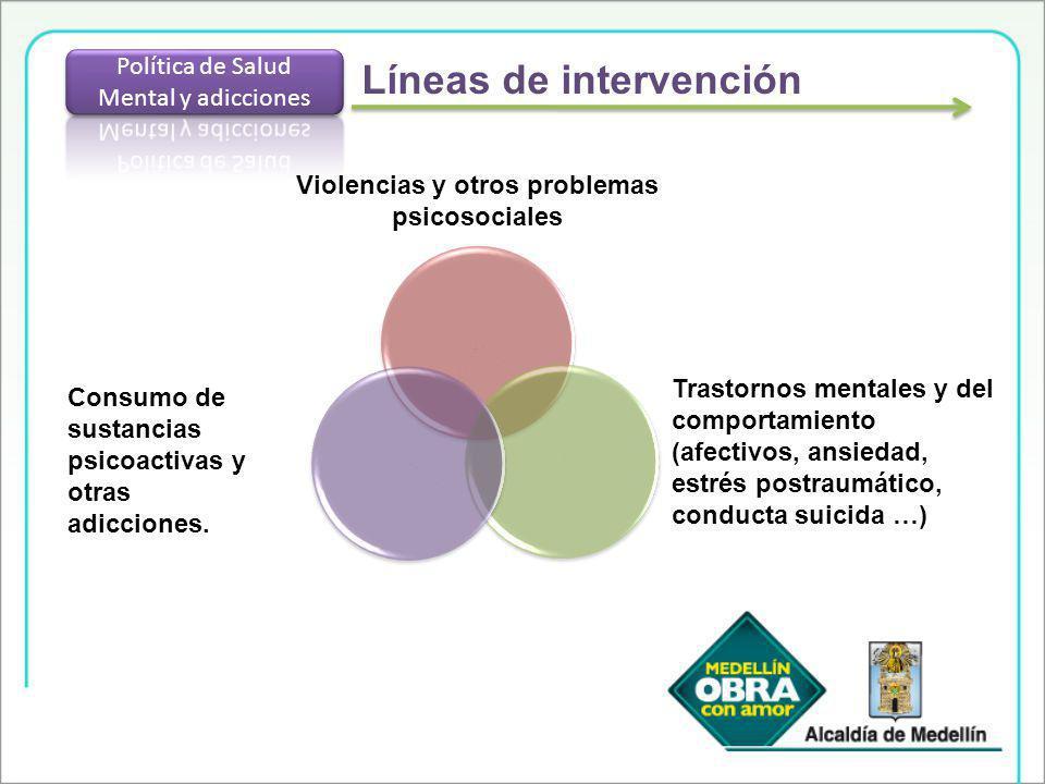 Violencias y otros problemas psicosociales