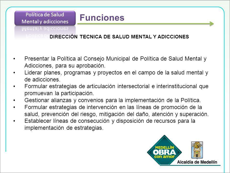 DIRECCIÓN TECNICA DE SALUD MENTAL Y ADICCIONES