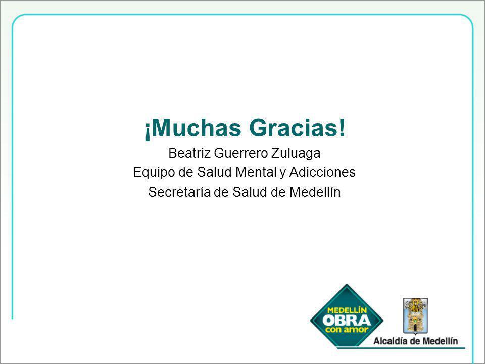 ¡Muchas Gracias! Beatriz Guerrero Zuluaga