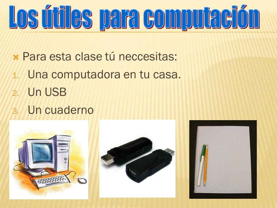 Los útiles para computación