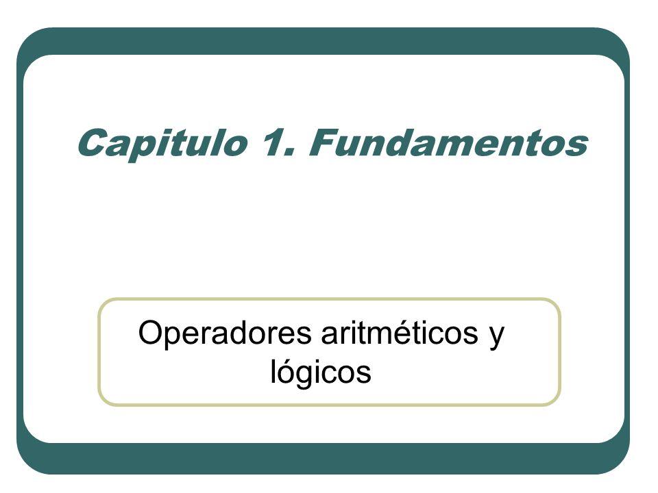 Operadores aritméticos y lógicos