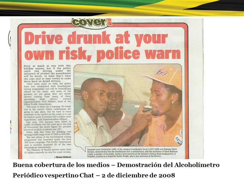 Buena cobertura de los medios – Demostración del Alcoholímetro