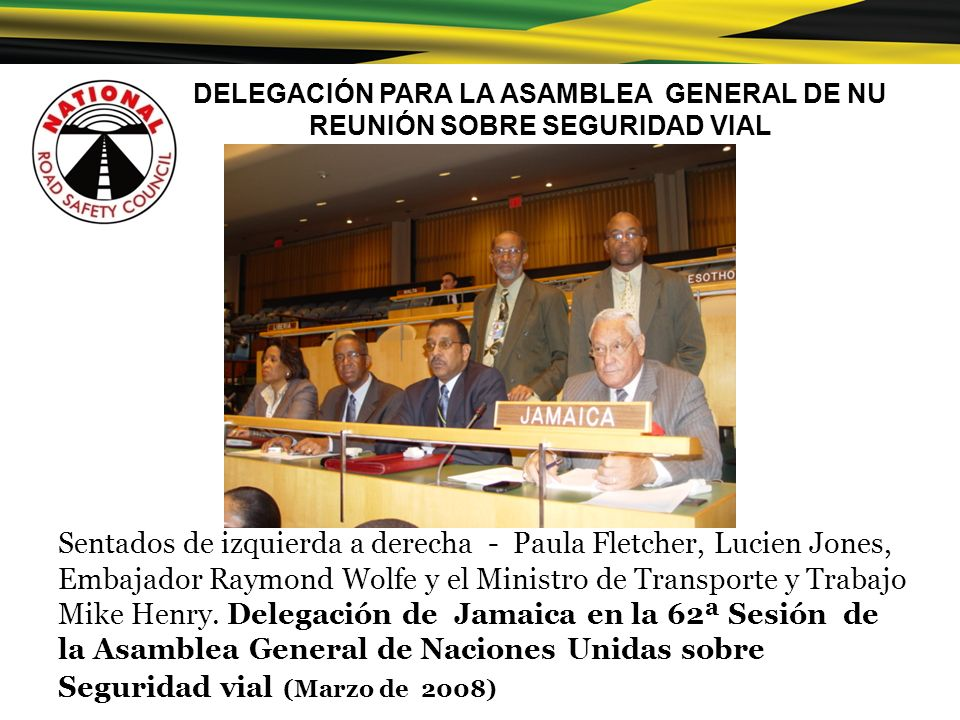 DELEGACIÓN PARA LA ASAMBLEA GENERAL DE NU REUNIÓN SOBRE SEGURIDAD VIAL
