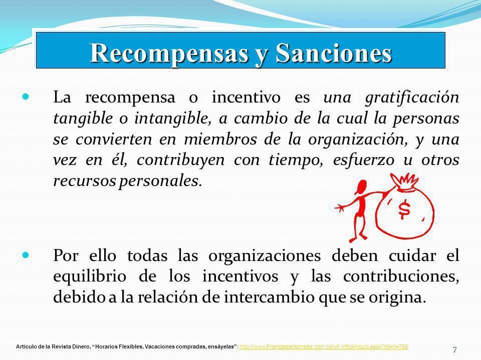 Recompensas y Sanciones