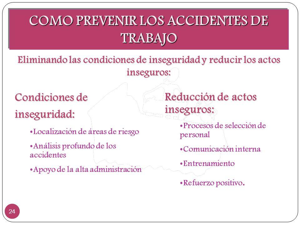 COMO PREVENIR LOS ACCIDENTES DE TRABAJO