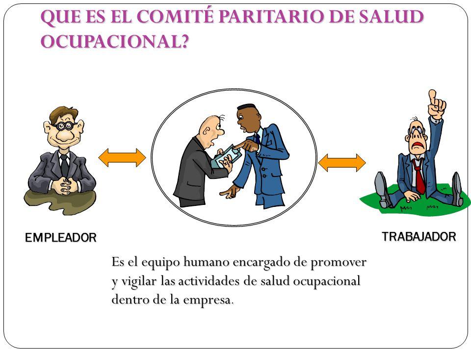 QUE ES EL COMITÉ PARITARIO DE SALUD OCUPACIONAL