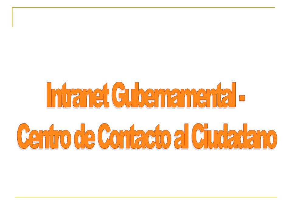 Intranet Gubernamental - Centro de Contacto al Ciudadano