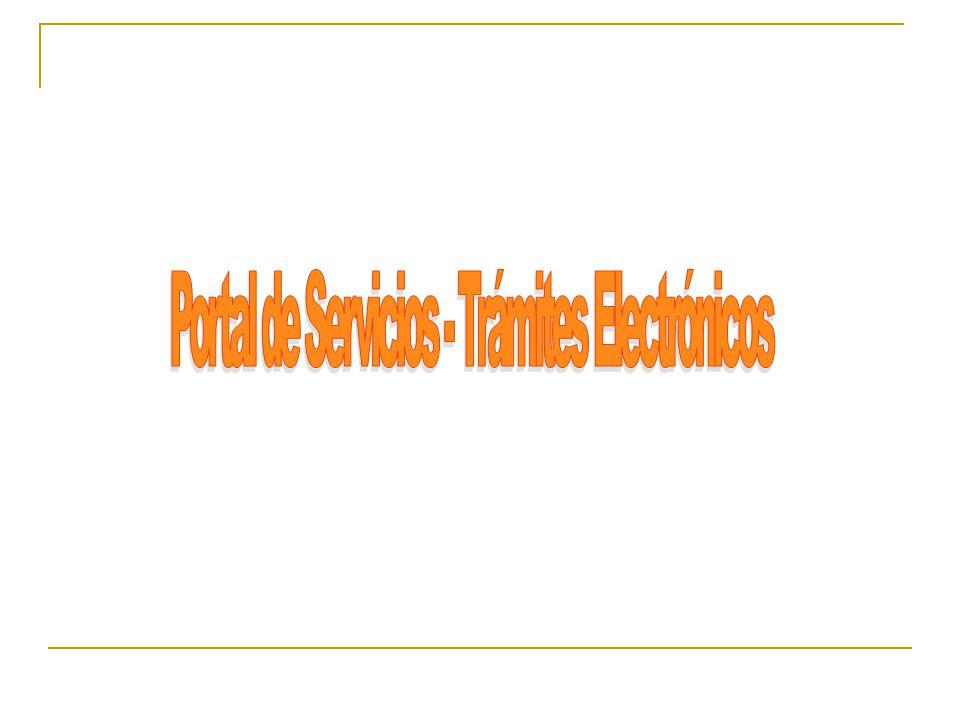 Portal de Servicios - Trámites Electrónicos