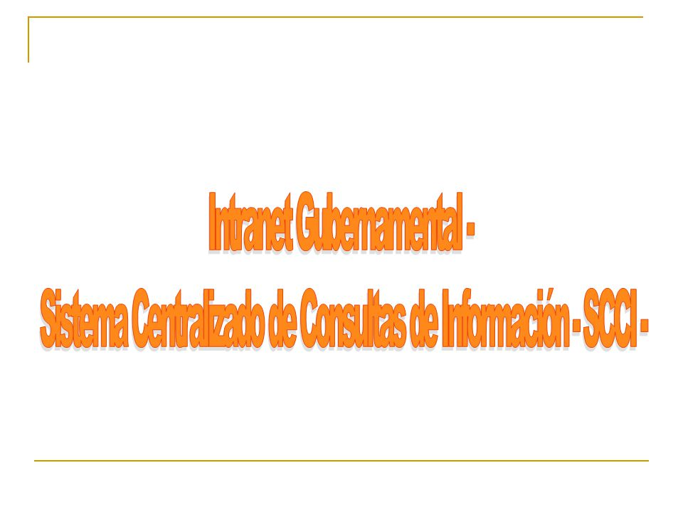 Intranet Gubernamental -
