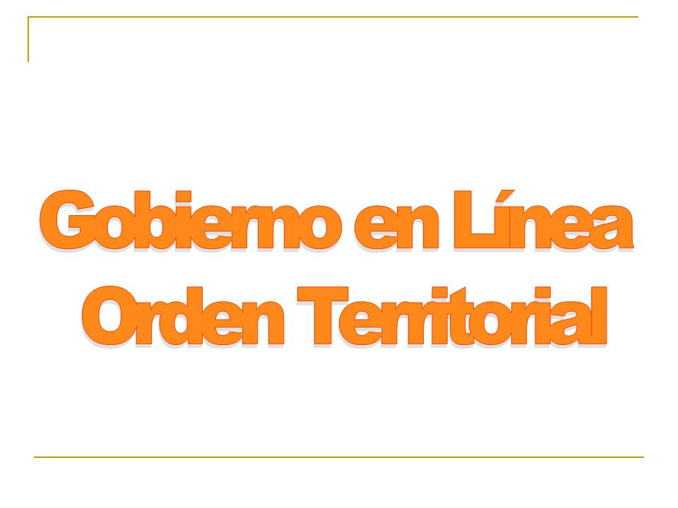 Gobierno en Línea Orden Territorial