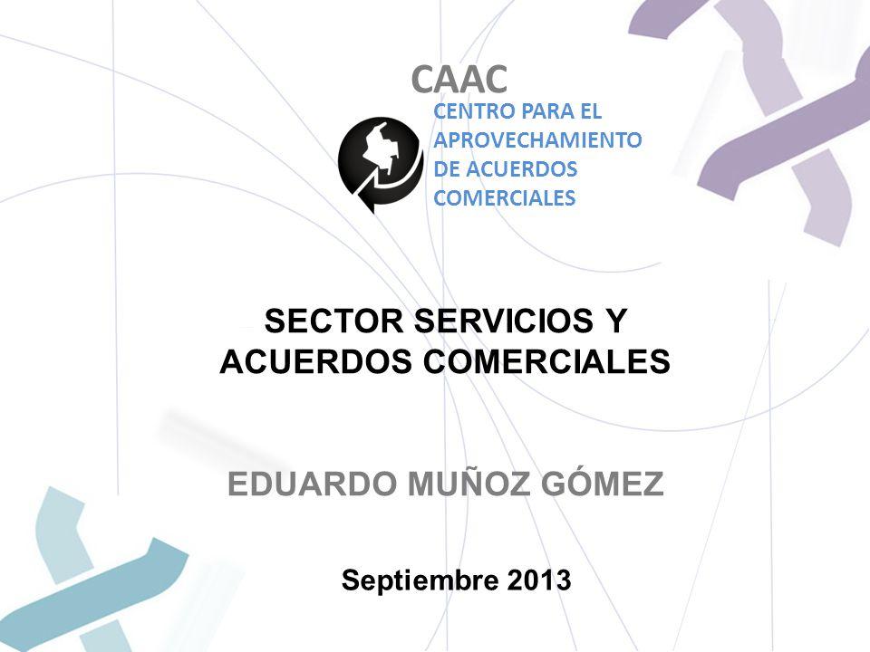 SECTOR SERVICIOS Y ACUERDOS COMERCIALES