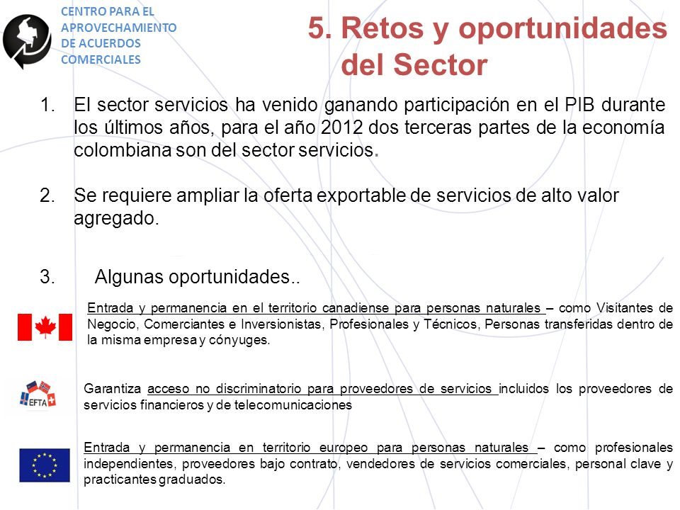 5. Retos y oportunidades del Sector