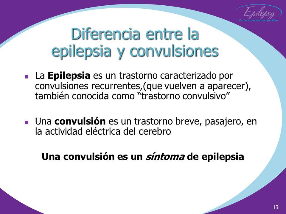 Diferencia entre la epilepsia y convulsiones