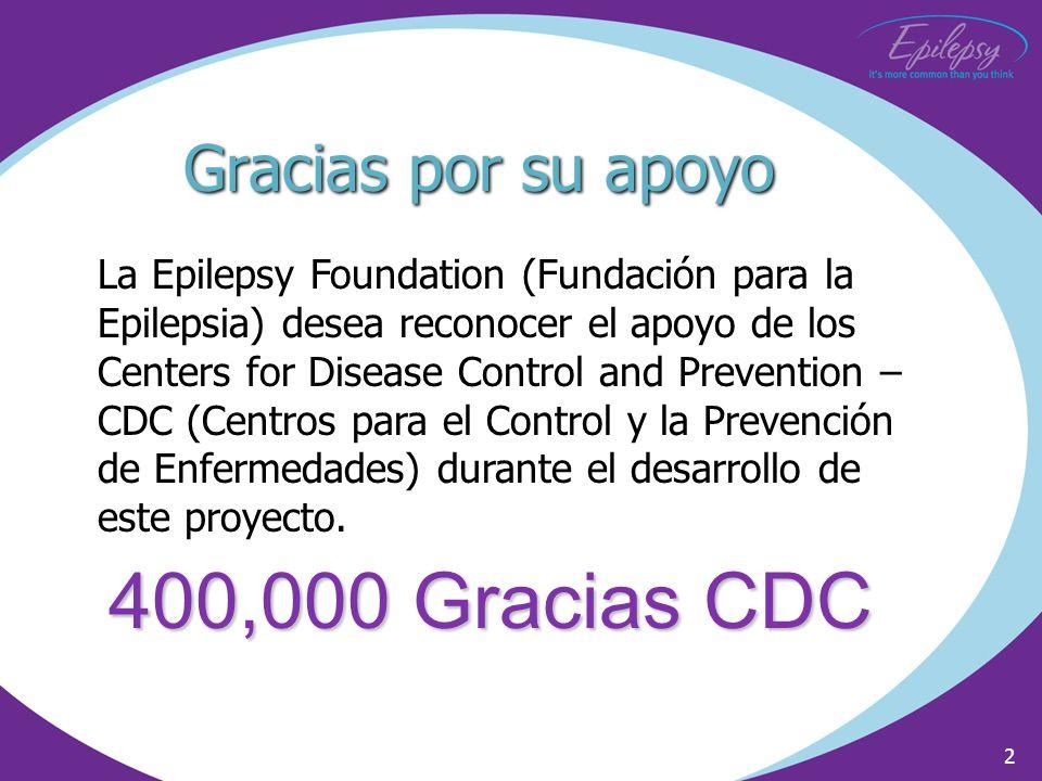 400,000 Gracias CDC Gracias por su apoyo