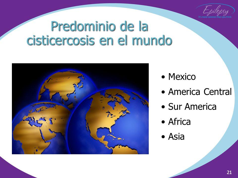 Predominio de la cisticercosis en el mundo