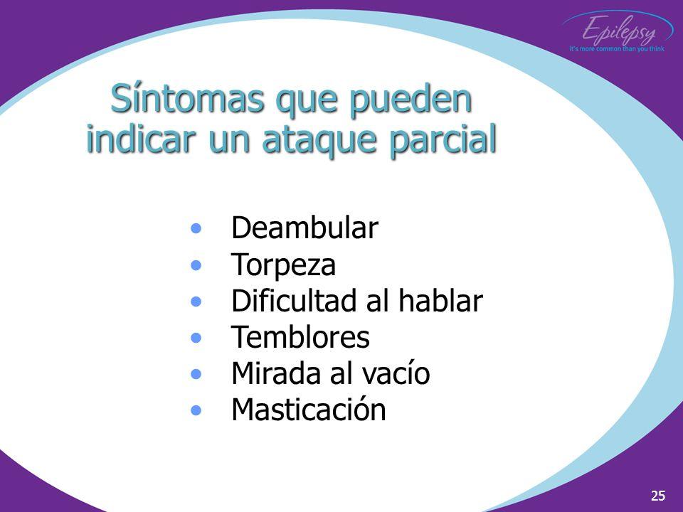Síntomas que pueden indicar un ataque parcial