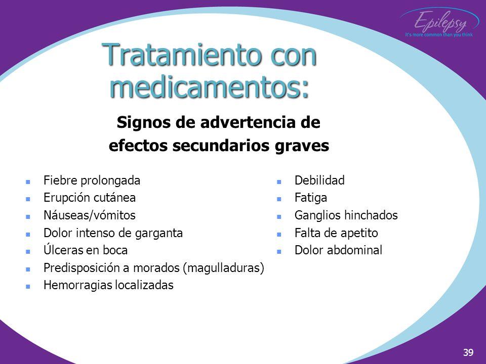 Tratamiento con medicamentos: