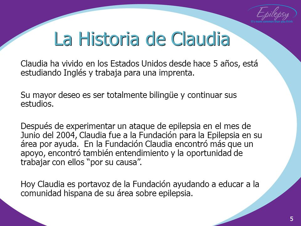 La Historia de ClaudiaClaudia ha vivido en los Estados Unidos desde hace 5 años, está estudiando Inglés y trabaja para una imprenta.