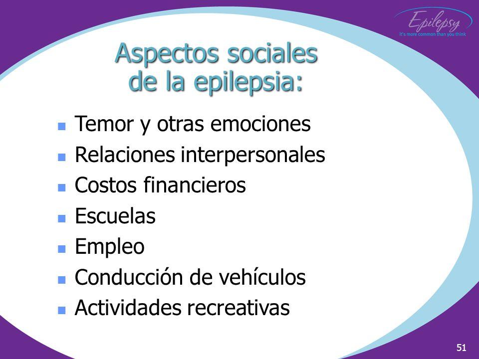Aspectos sociales de la epilepsia:
