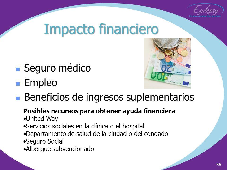 Impacto financiero Seguro médico Empleo