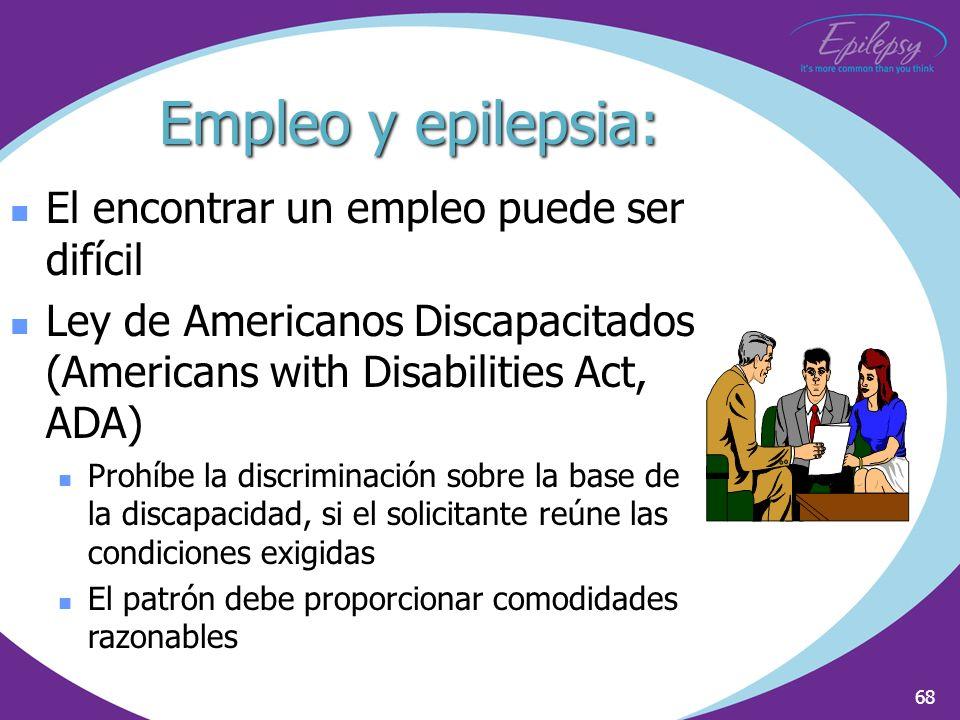 Empleo y epilepsia: El encontrar un empleo puede ser difícil