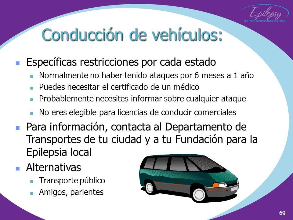 Conducción de vehículos: