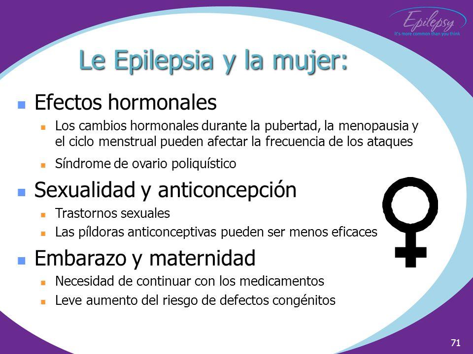 Le Epilepsia y la mujer: