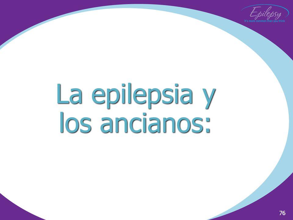 La epilepsia y los ancianos: