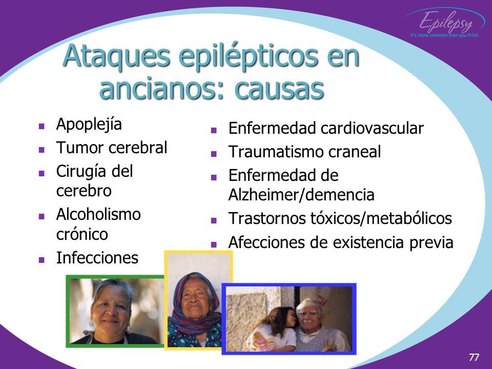 Ataques epilépticos en ancianos: causas