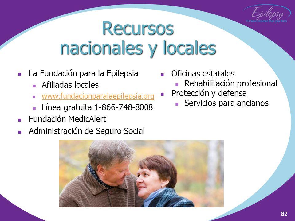 Recursos nacionales y locales