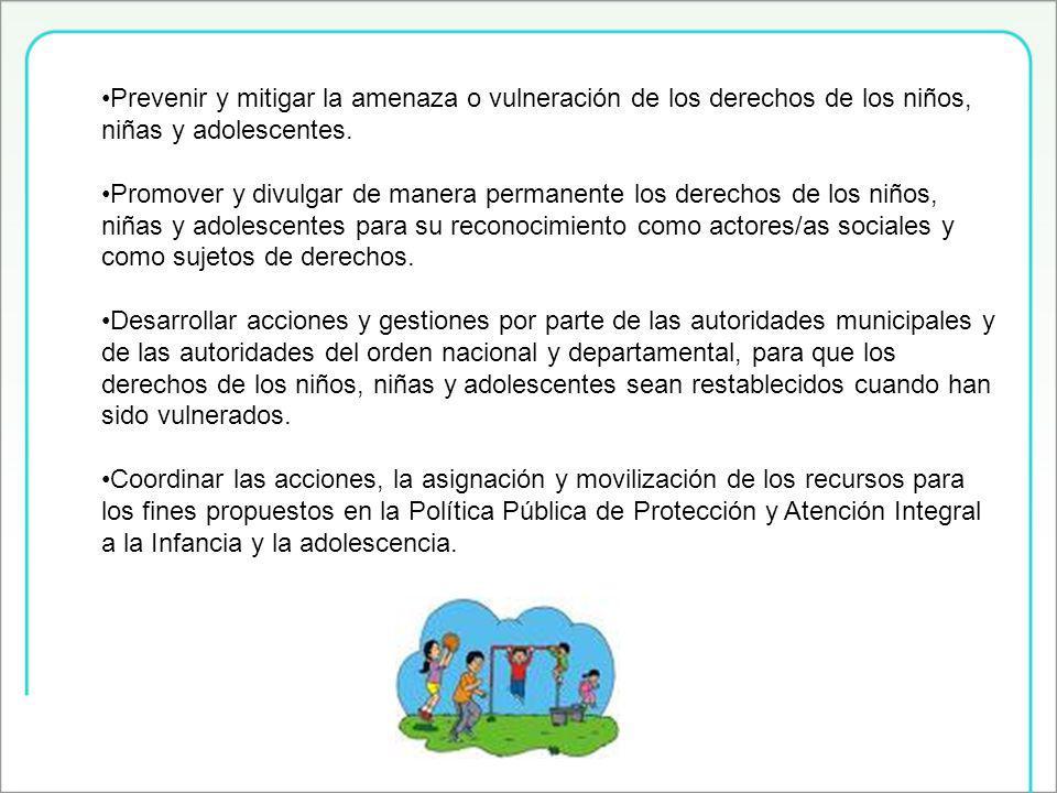 Prevenir y mitigar la amenaza o vulneración de los derechos de los niños, niñas y adolescentes.