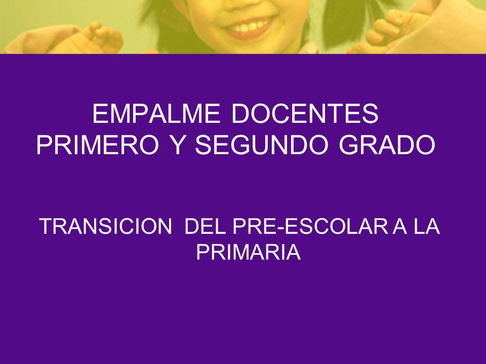 EMPALME DOCENTES PRIMERO Y SEGUNDO GRADO