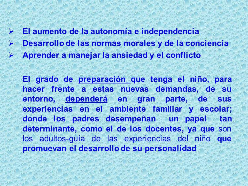 El aumento de la autonomía e independencia
