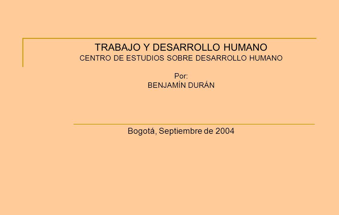 TRABAJO Y DESARROLLO HUMANO
