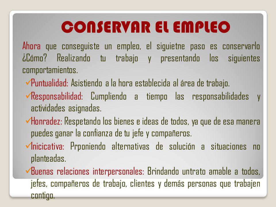 CONSERVAR EL EMPLEO