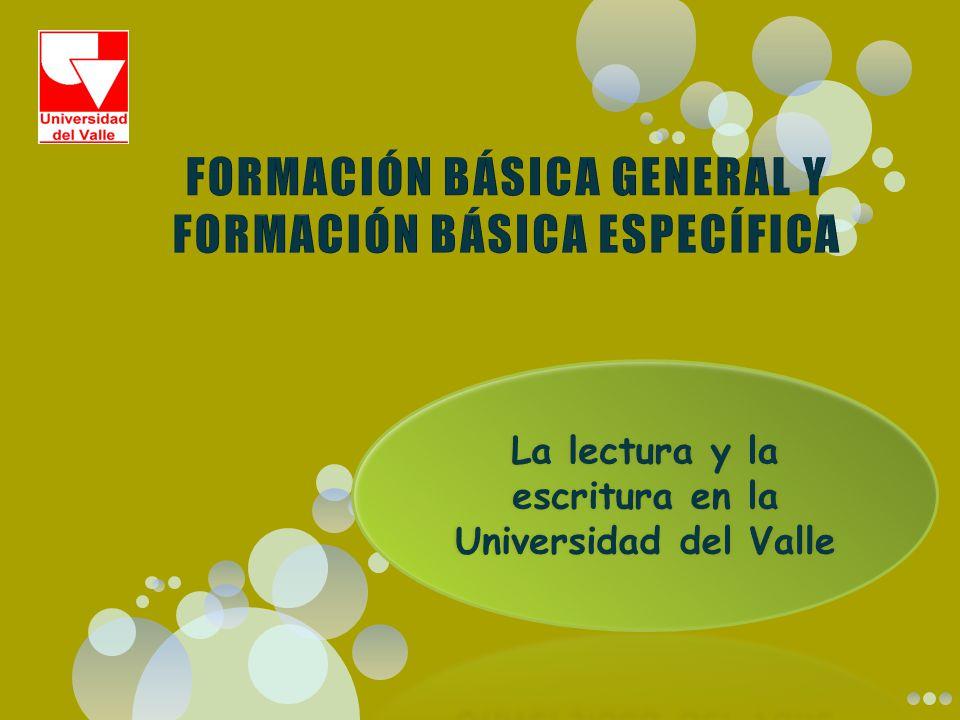FORMACIÓN BÁSICA GENERAL Y FORMACIÓN BÁSICA ESPECÍFICA
